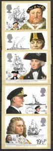 GB UK STAMPS, 1982, SET OF 5 MAXI CARDS MC MAXIMUM CARDS MARITIME HERITAGE