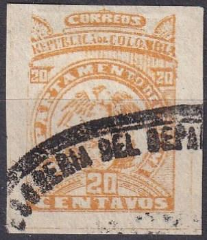 Colombia Tolima #81a  F-VF Used  CV $2.50  (A19778)
