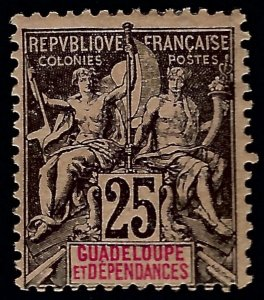 Guadeloupe Sc #37 Unused Fine...French colonies are in demand!