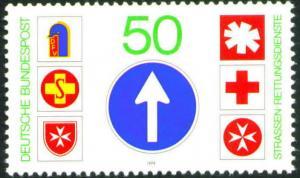 Germany Scott 1290 MNH** 1979 Road safety stamp