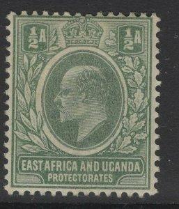 KENYA, UGANDA & TANGANYIKA SG1 1904 ½a GREEN MTD MINT