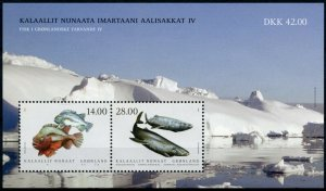 Greenland Fishes Stamps 2021 MNH Fish in Greenland IV Sharks Lumpsucker 2v M/S