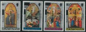 78441 - MONTSERRAT - STAMP:  XMAS Religion 4 values MNH - Overprinted SPECIMEN
