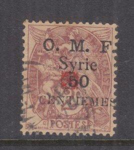 SYRIA, 1920 Aleppo, Rosette in Red, 50c. on 2c. Claret, used.