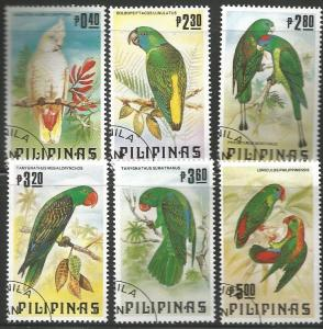 PHILIPPINES 1655-1660, USED, C/SET OF 6 STAMPS, BIRDS