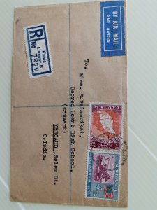 MALAY STATE 1958 COVER WITH 25C & 30C OF fEDERATION OF MALAYA STAMPS