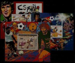 Djibouti 3 MNH s/s Football-82