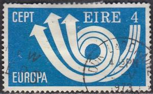 Ireland 329 Hinged Used 1973 Europa CEPT Post Horn & Arrows