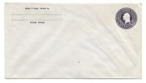 Unused 3-cent George Washington Government Stamped Envelope Printed for Guam
