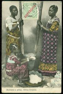 ZAMBEZIA : Beautiful 1913 Multi-color Picture Post Card to France.