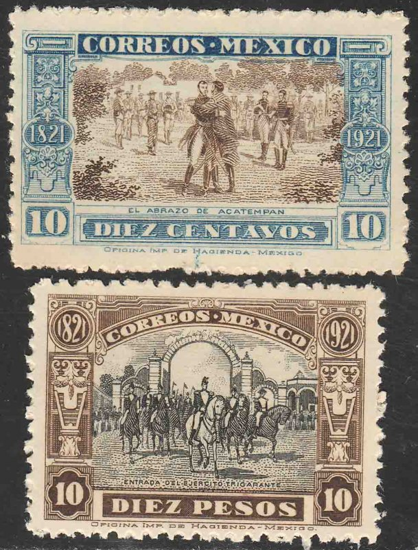 MEXICO 632-633, Centenary END OF THE WAR FOR INDEPENDENCE. UNUSED, H OG.