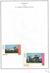 SCOTLAND - GRUNAY - 1982 - Bi-planes #1- Souv & D/L Sheets  - MLH