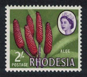 Rhodesia Aloe 1Sh3d Typo Printing perf 13?*13 Small Portrait SG#383