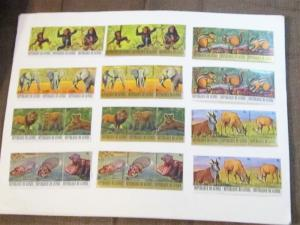 Guinea - 752-57, C137-42, MNH Set. Endangered Animals. SCV - $50.60