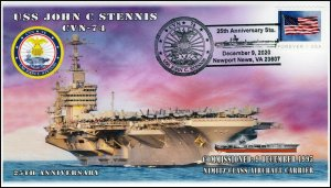 20-295, 2020, USS John C Stennis, Event Cover, Pictorial Postmark, CVN-74, 25th