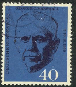 GERMANY 1960 GEORGE C. MARSHALL Issue Sc 821 VFU
