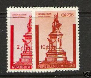 DOMINICAN REPUBLIC COLUMBUS 367-368 VFU