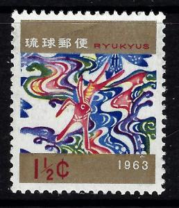 Ryukyu Is 105 MNH 1962 New Year