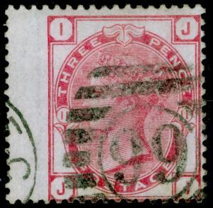 SG144, 3d pale rose plate 11, USED. Cat £80. JI