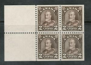 Canada #166a Extra Fine Never Hinged Booklet Pane