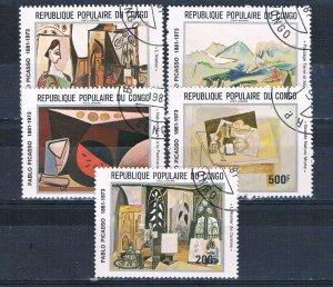 Congo PR C296A-E Used set Picasso 1981 (MV0120)