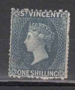 St. Vincent Scott 12 Mint hinged (thin, with small hole thru stamp) - CV $325.00