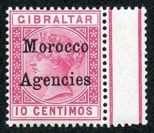 Morocco Agencies SG10 10c carmine opt type 2 U/M