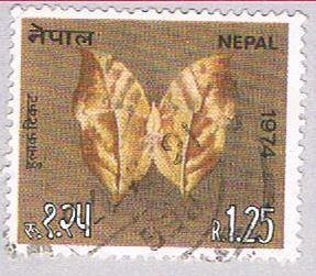 Nepal 291 Used Butterfly 1974 (BP32327)