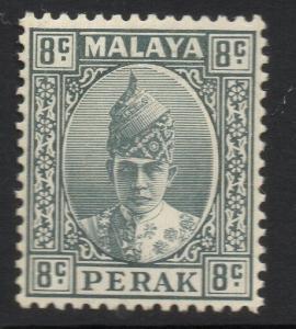 MALAYA PERAK SG110 1938 8c GREY MTD MINT