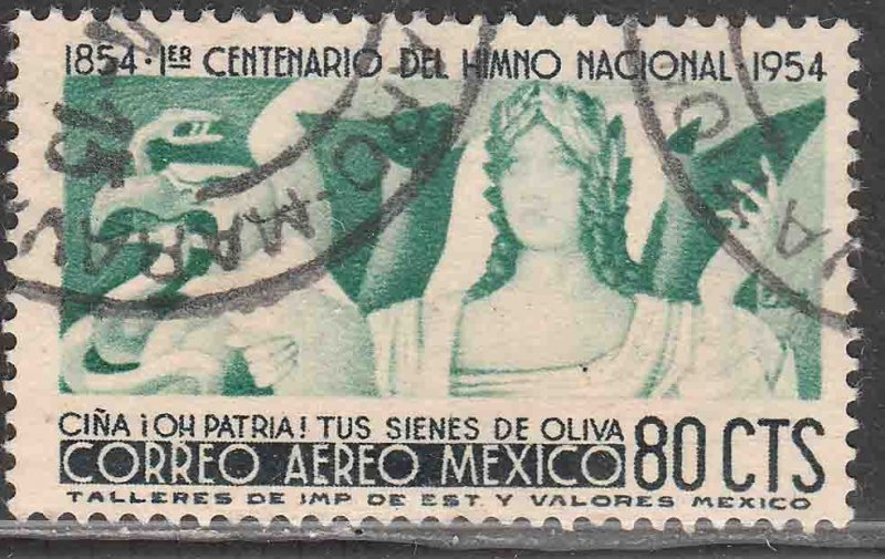 MEXICO C226, 80¢ Centennial of National Anthem. USED. VF. (614)