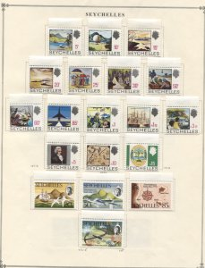 Seychelles #241//483 MNH/MLH CV$160.00 1968-1981 Collection on Album Pages [8...