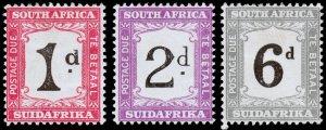 South Africa Scott J18-J19, J21 (1927-28) Mint H VF, CV $26.80 C