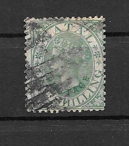 NATAL USED SC#17 QUEEN VICTORIA ONE SHILLING SCV$52.50