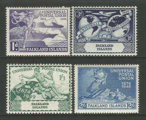 Falkland Islands 1949 UPU 75th Anniversary Commemorative Set Mounted Mint