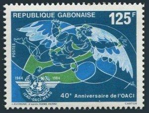 Gabon 572,MNH.Michel 921. ICAO,40th Ann.1984.
