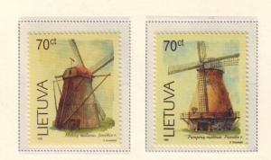 Lithuania Sc 631-2 1999 Windmills stamp set mint NH