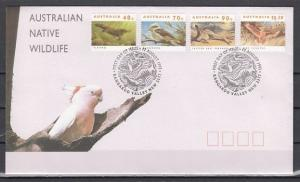 Australia, Scott cat. 1273~1286. Endangered Species issue. First day cover. ^