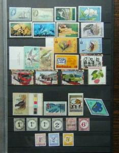 Barbados QE2 Commemorative issues Mainly MNH + Postage Dues 1950 6c Used