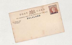 I71 QV, Zululand, Specimen - Postal Stationery