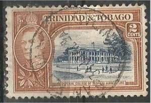 TRINIDAD AND TOBAGO, 1938, used 2p, George VI  Scott 51
