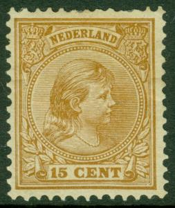 EDW1949SELL : NETHERLANDS 1894 Scott #45a Orange Brown Very Fine Mint OG Cat $80
