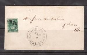 USA #13 Very Fine Used On Cover To Galena ILC **With Certificate**