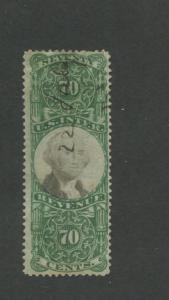1872 United States Internal Revenue Documentary Stamp #R143 Used F/VF Pen Cancel