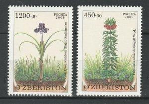Uzbekistan 2010 Flowers 2 MNH stamps