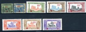 TUNISIA-1916 Prisoners Of War Fund Sg 51-59 MOUNTED MINT SET V18043