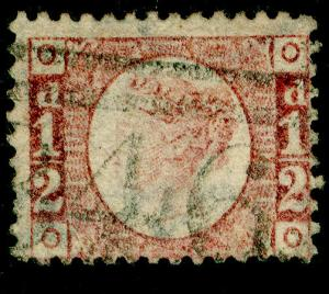 SG48, ½d rose-red PLATE 11, USED. Cat £22. OO