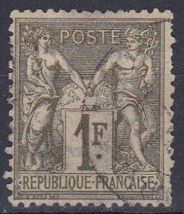 France Sc #76 Used; Mi #67 I