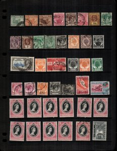 Straits Settlements  41 diff mint  hinged and used