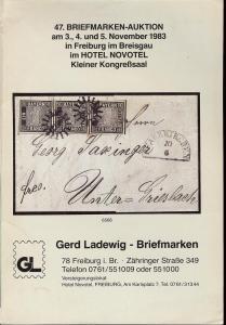 47. Briefmarken-Auktion, Gerd Ladewig  Nov. 3-5, 1983
