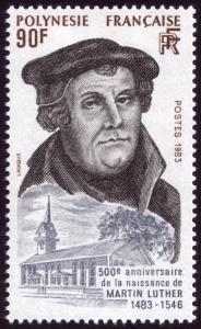 French Polynesia 1983 Birth Anniversary of Martin Luther SG408 MNH